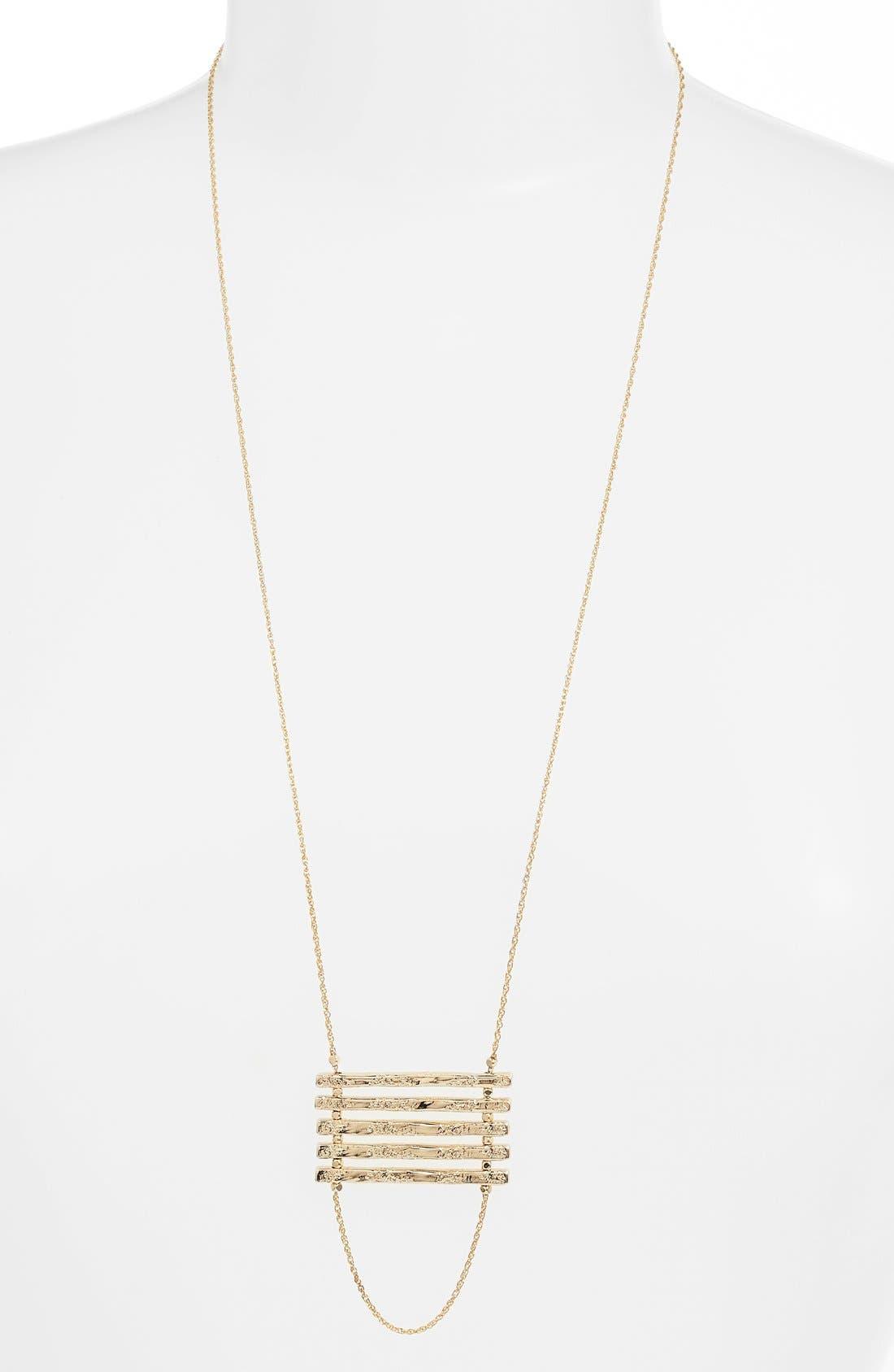 Alternate Image 2  - Nordstrom Bar Pendant Necklace