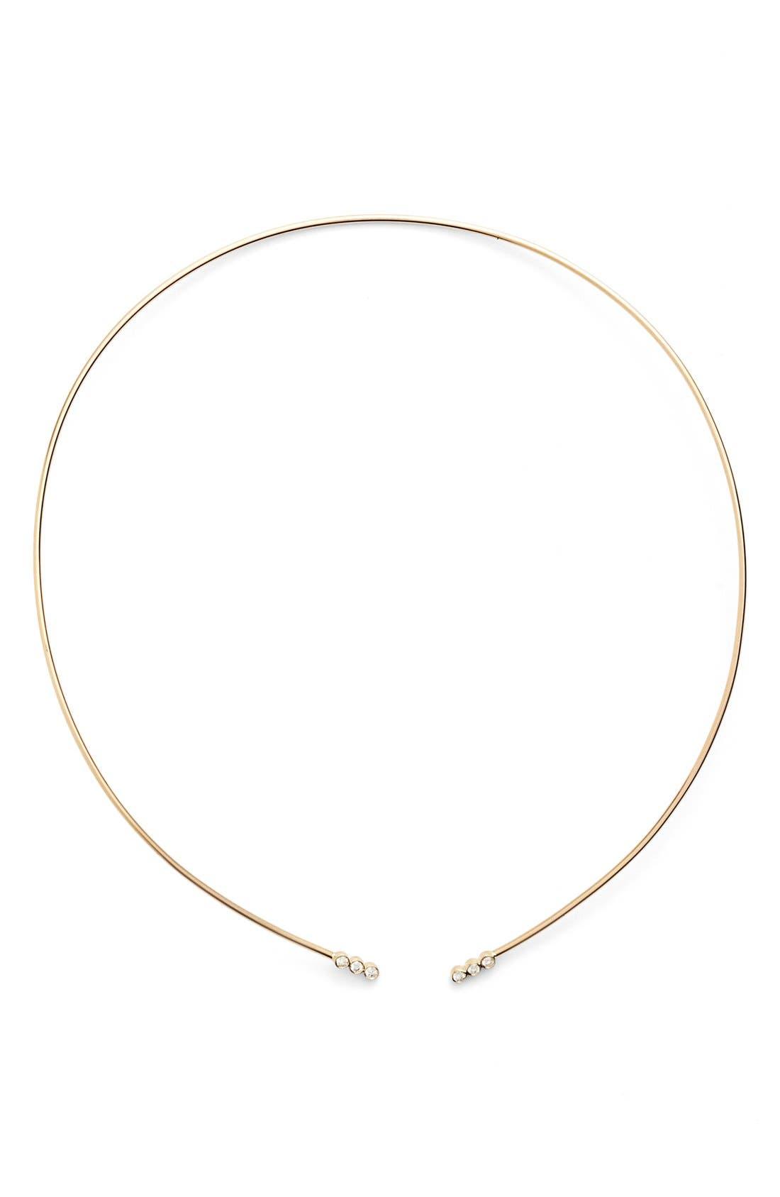 Diamond Collar Necklace,                         Main,                         color, Yellow Gold