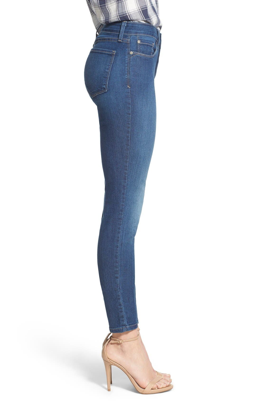 Ami Stretch Skinny Jeans,                             Alternate thumbnail 3, color,                             Cleveland