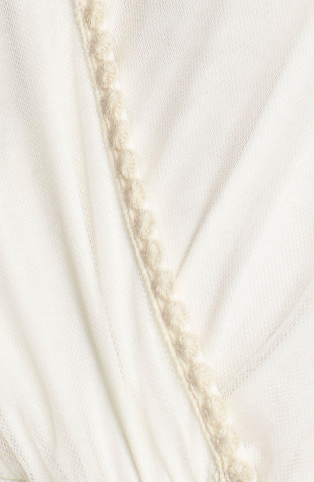 Alternate Image 5  - Fraiche by J Embroidered Mesh & Cotton Midi Dress