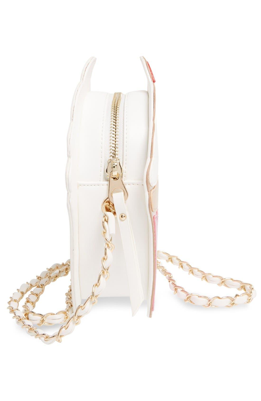 Alternate Image 5  - Nila Anthony 'Cupcake' Faux Leather Crossbody Bag