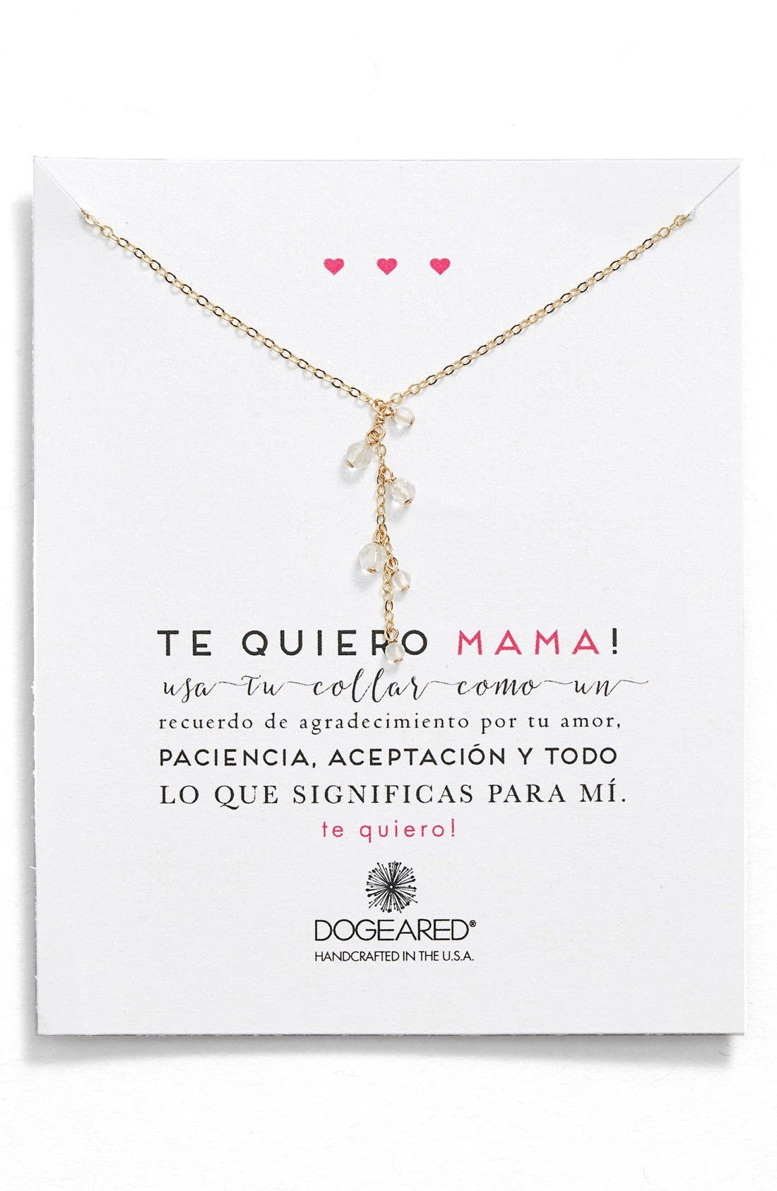 Alternate Image 1 Selected - Dogeared 'Te Quiero Mama' Beaded Y-Necklace