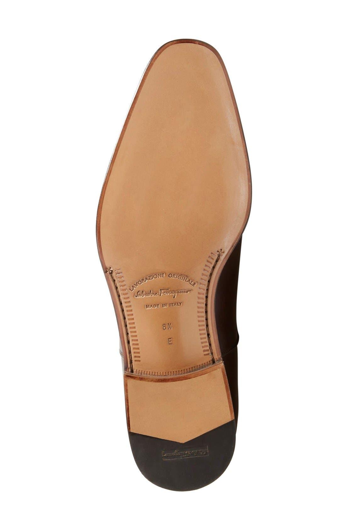 Luce Cap Toe Oxford,                             Alternate thumbnail 4, color,                             Auburn Leather