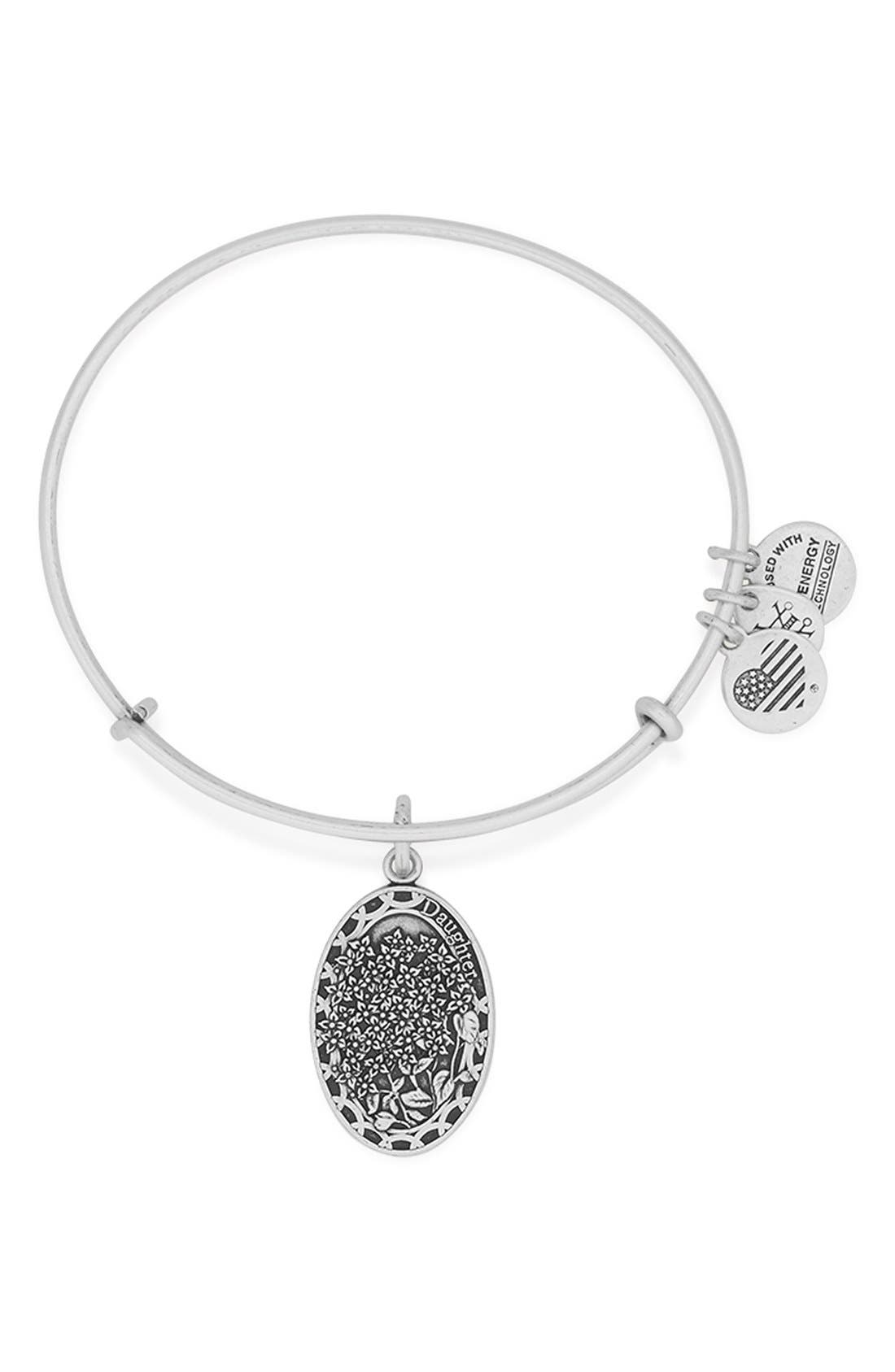 ALEX AND ANI I Love You Daughter Expandable Wire Bangle