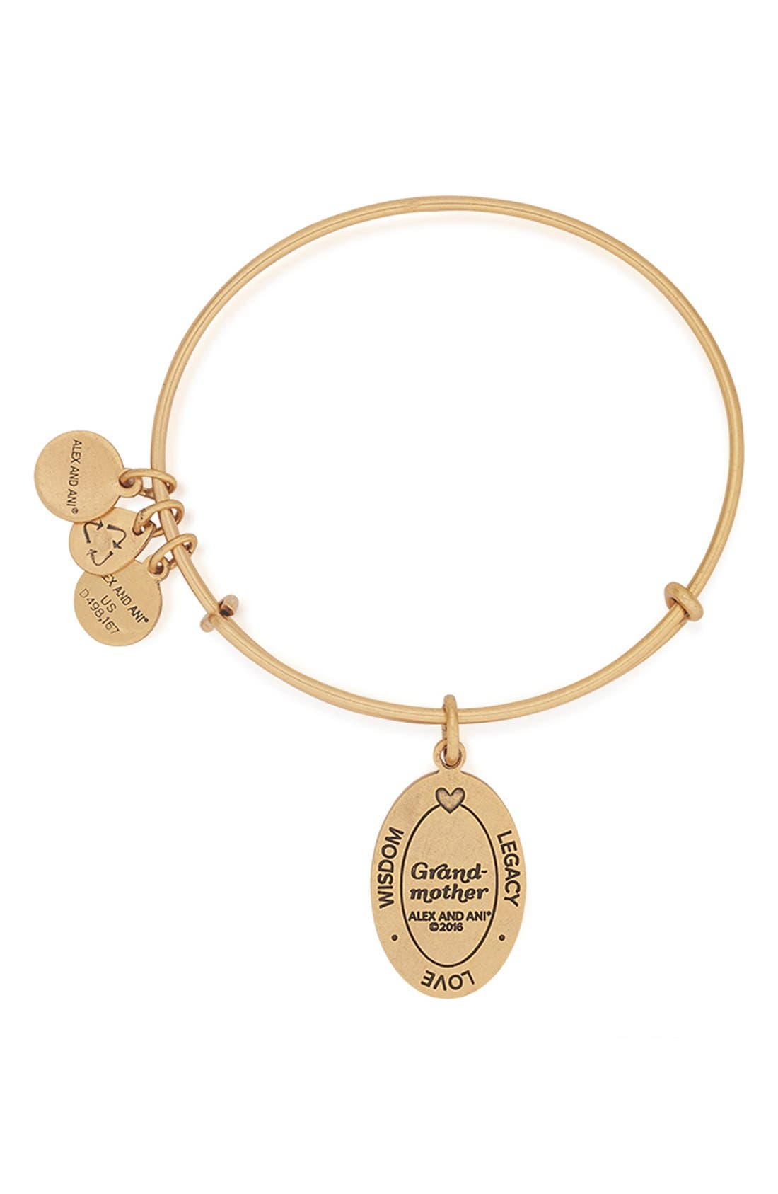 Alternate Image 4  - Alex and Ani 'I Love You Grandmother' Expandable Wire Bangle