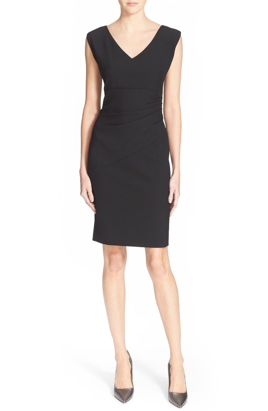 'Bevin' Sheath Dress,                             Main thumbnail 1, color,                             Black