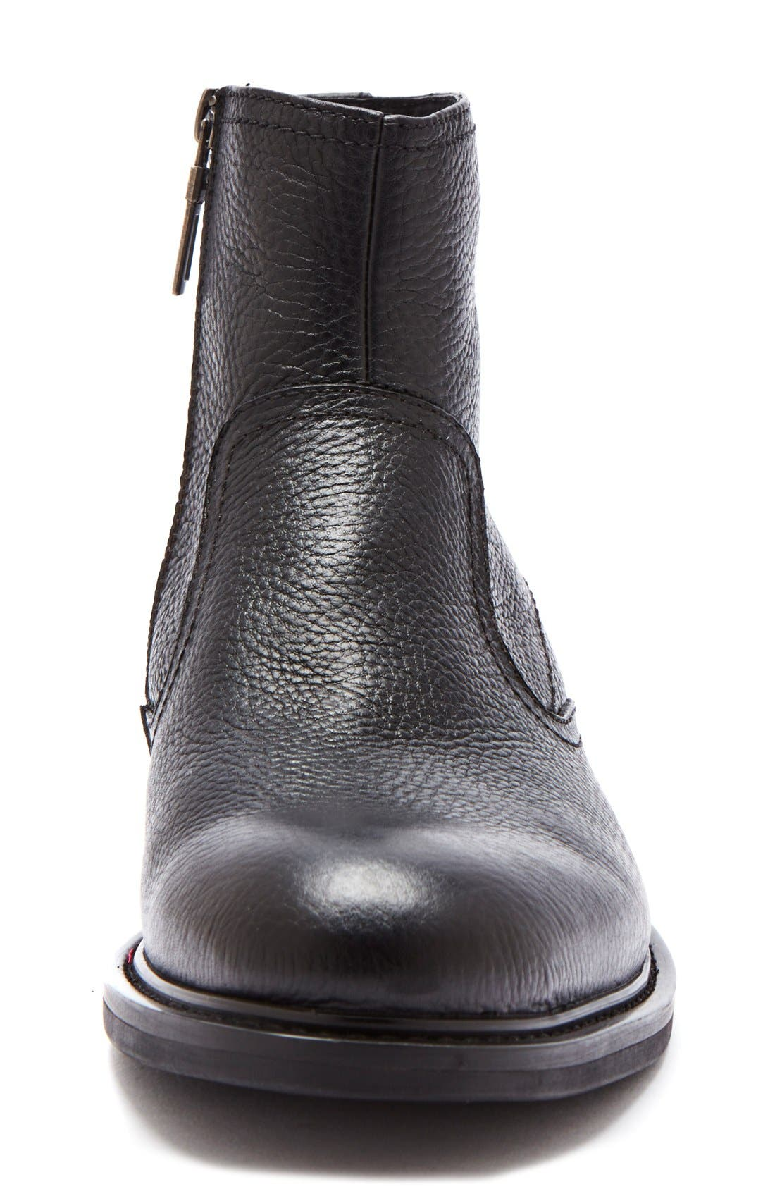 'Fried' Waterproof Zip Boot,                             Alternate thumbnail 3, color,                             Black Leather