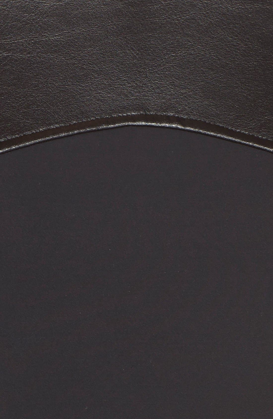 Alternate Image 5  - Magicsuit® 'Bonnie' Faux Leather Neck One-Piece Swimsuit