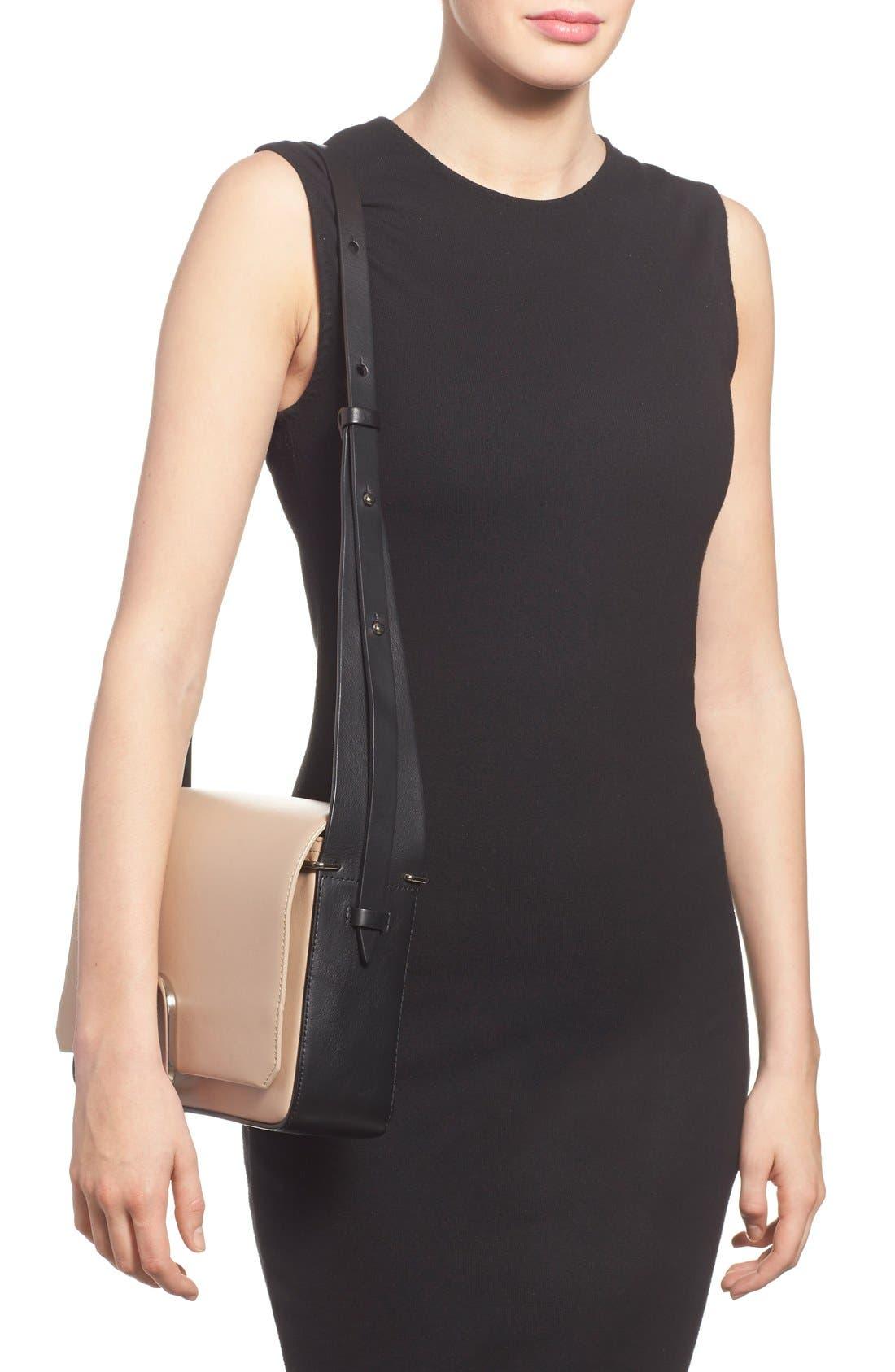 'Alix' Flap Shoulder Bag,                             Alternate thumbnail 2, color,                             Fawn