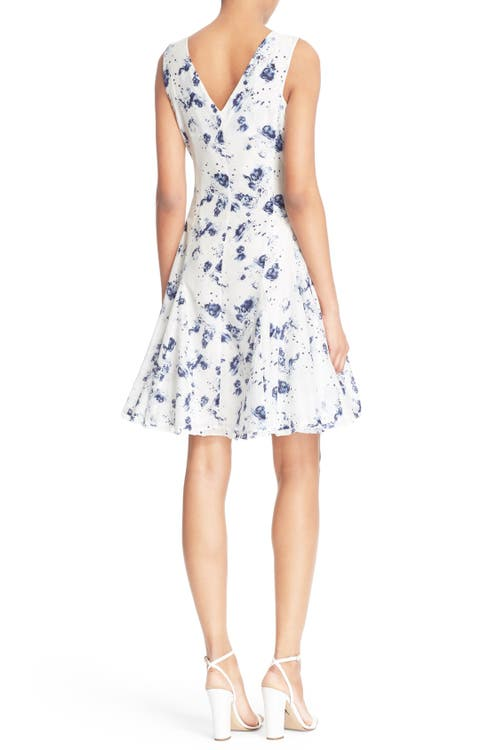 Rebecca Taylor \'Meteor\' Tie Front Cotton Fit & Flare Dress | Nordstrom