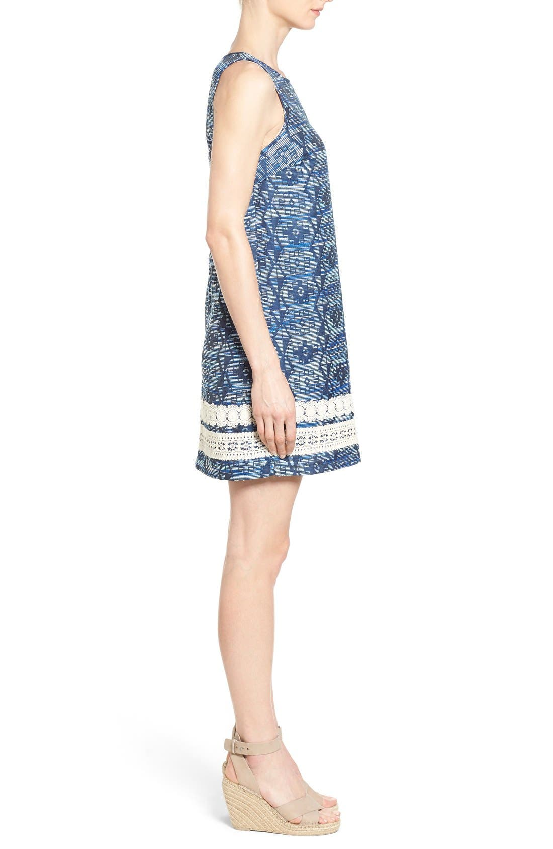 Alternate Image 3  - kensie Aztec Brocade Shift Dress