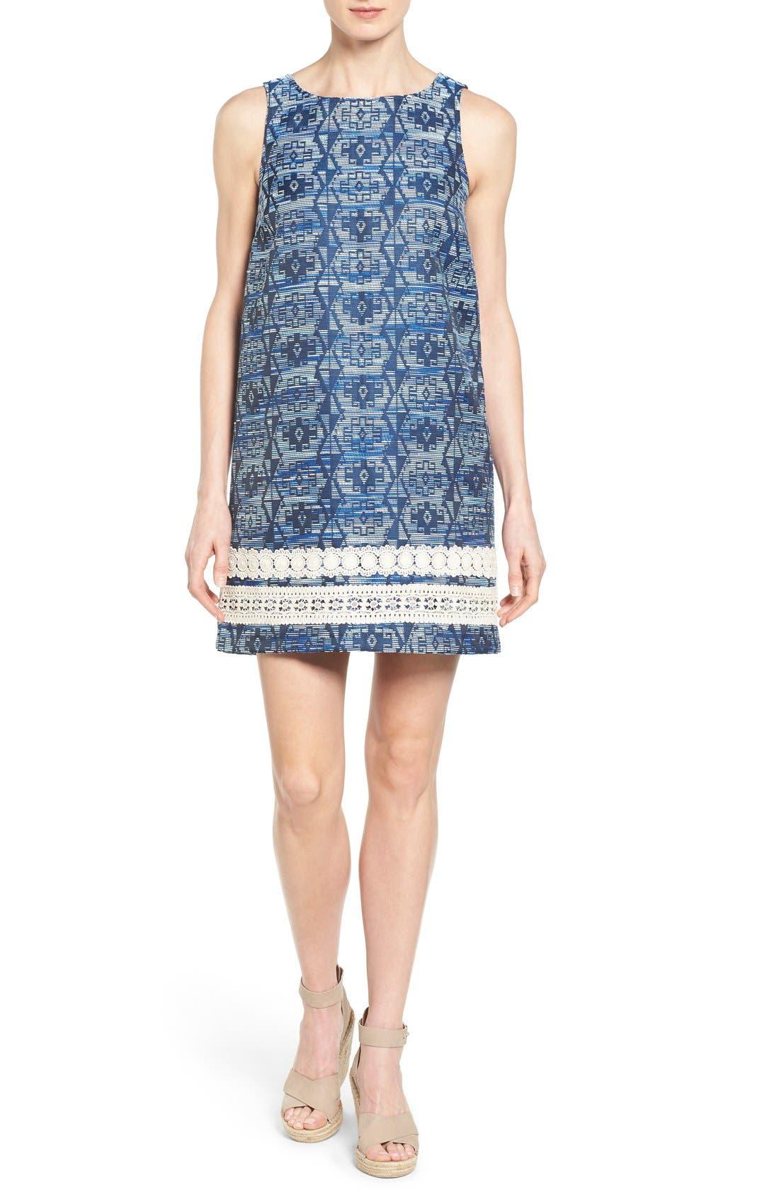 Main Image - kensie Aztec Brocade Shift Dress