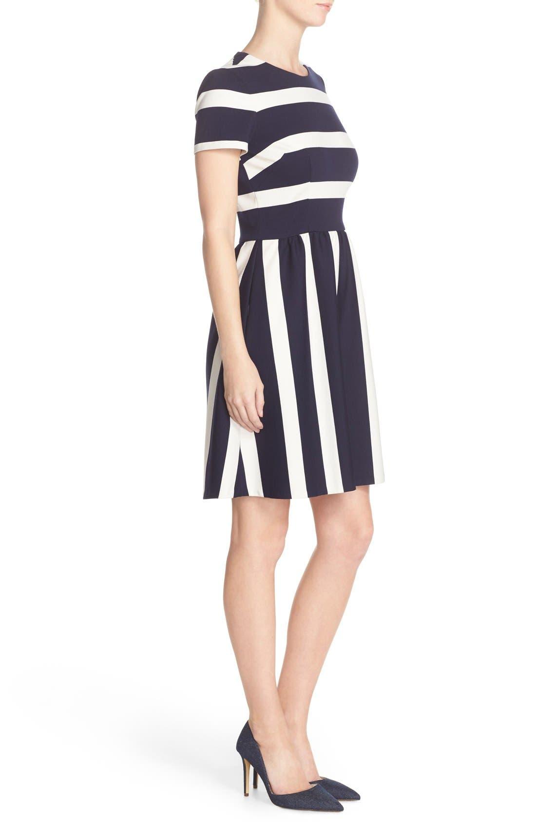 Alternate Image 3  - Eliza J Stripe Knit Fit & Flare Dress (Regular & Petite)