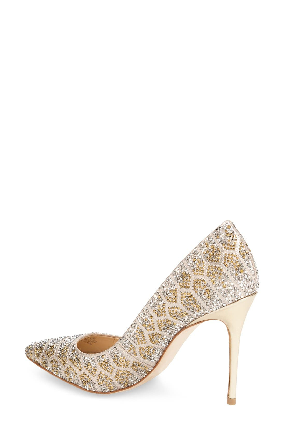 Imagine Vince Camuto 'Olivier' Pointy Toe Pump,                             Alternate thumbnail 2, color,                             Soft Gold