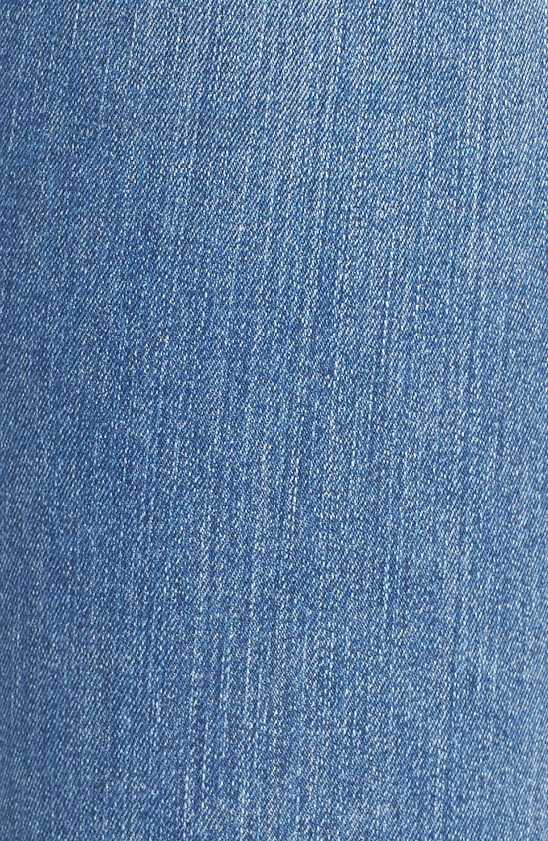 Alternate Image 5  - James Jeans Double Front Zip Denim Leggings (Splash)
