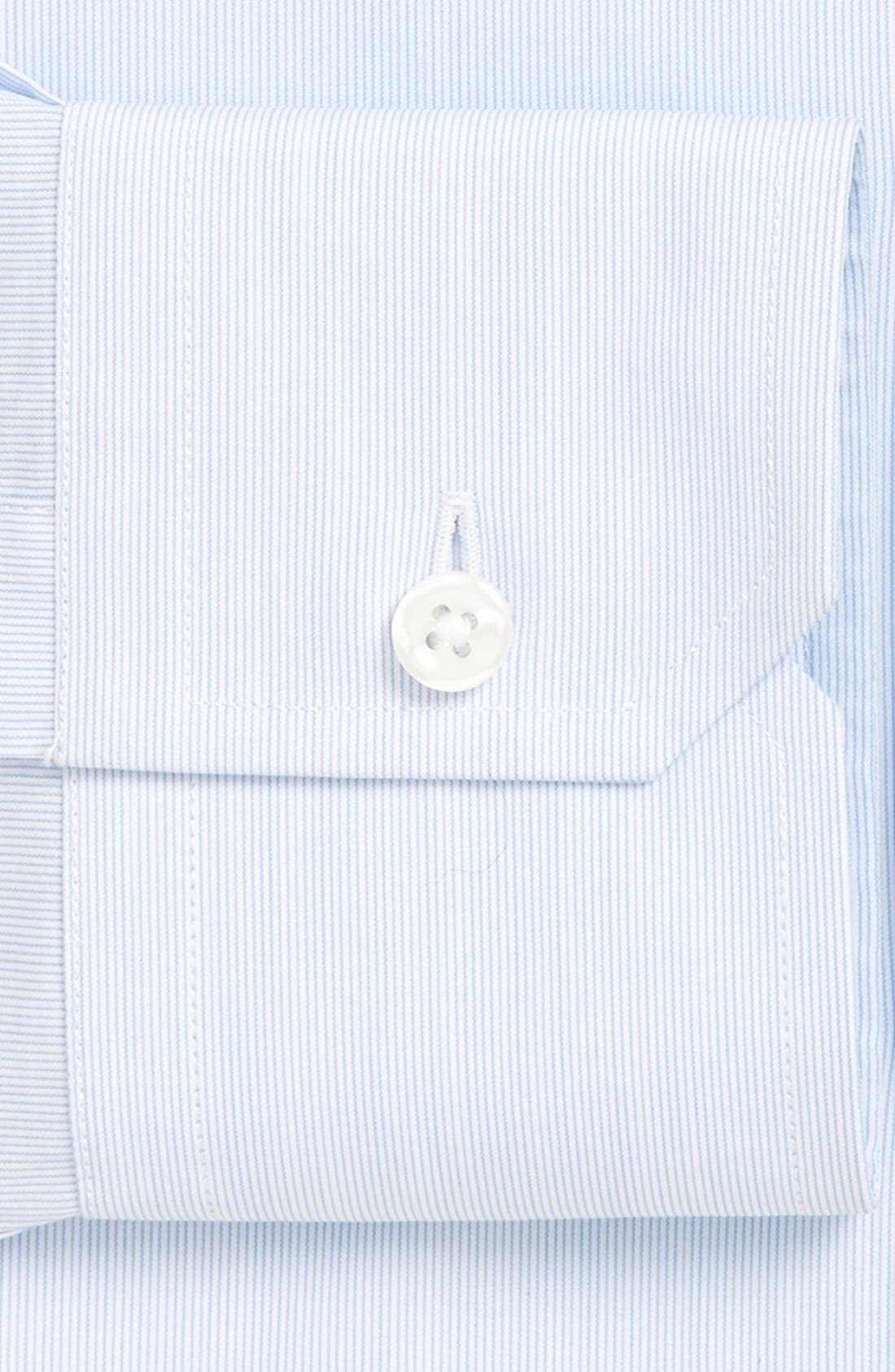 'Elan' Trim Fit Stripe Dress Shirt,                             Alternate thumbnail 2, color,                             Blue Mini Stripe