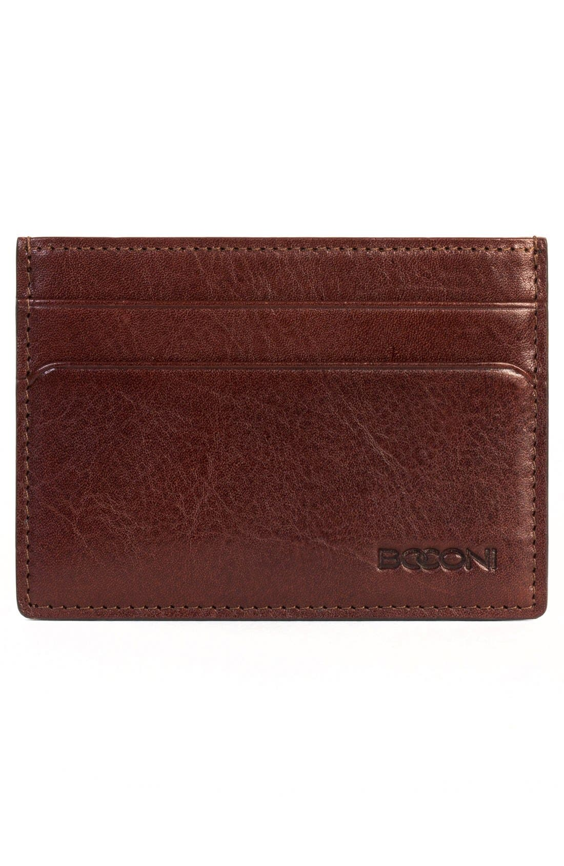 'Becker' Leather Card Case,                             Alternate thumbnail 3, color,                             Whiskey