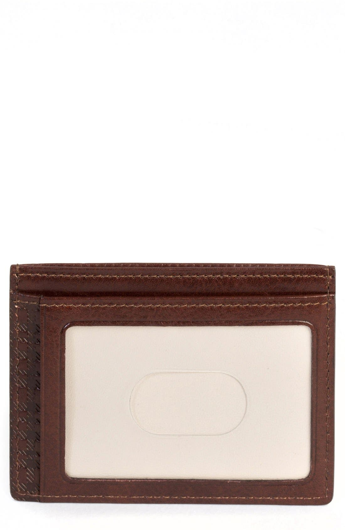 'Becker' Leather Card Case,                             Main thumbnail 1, color,                             Whiskey
