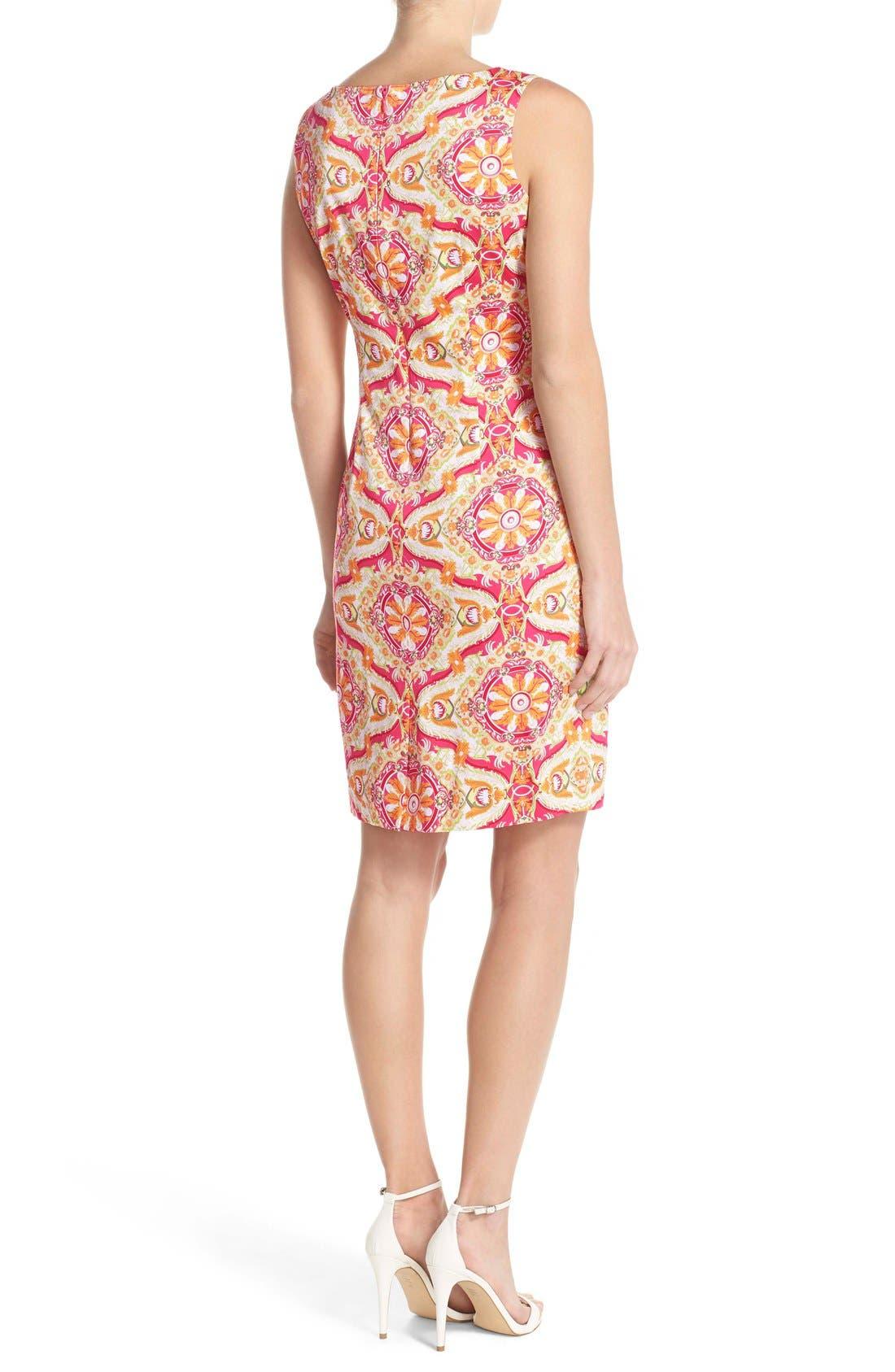 Alternate Image 2  - Chetta B Print Sateen Sheath Dress