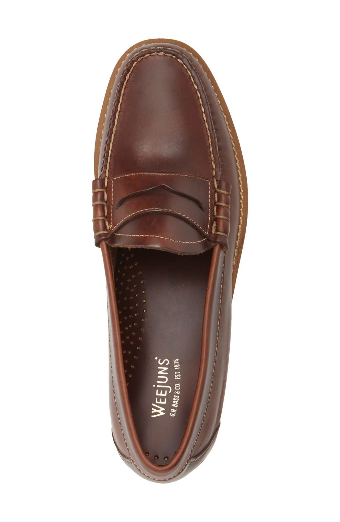 'Larson - Weejuns' Penny Loafer,                             Alternate thumbnail 3, color,                             Seahorse Leather