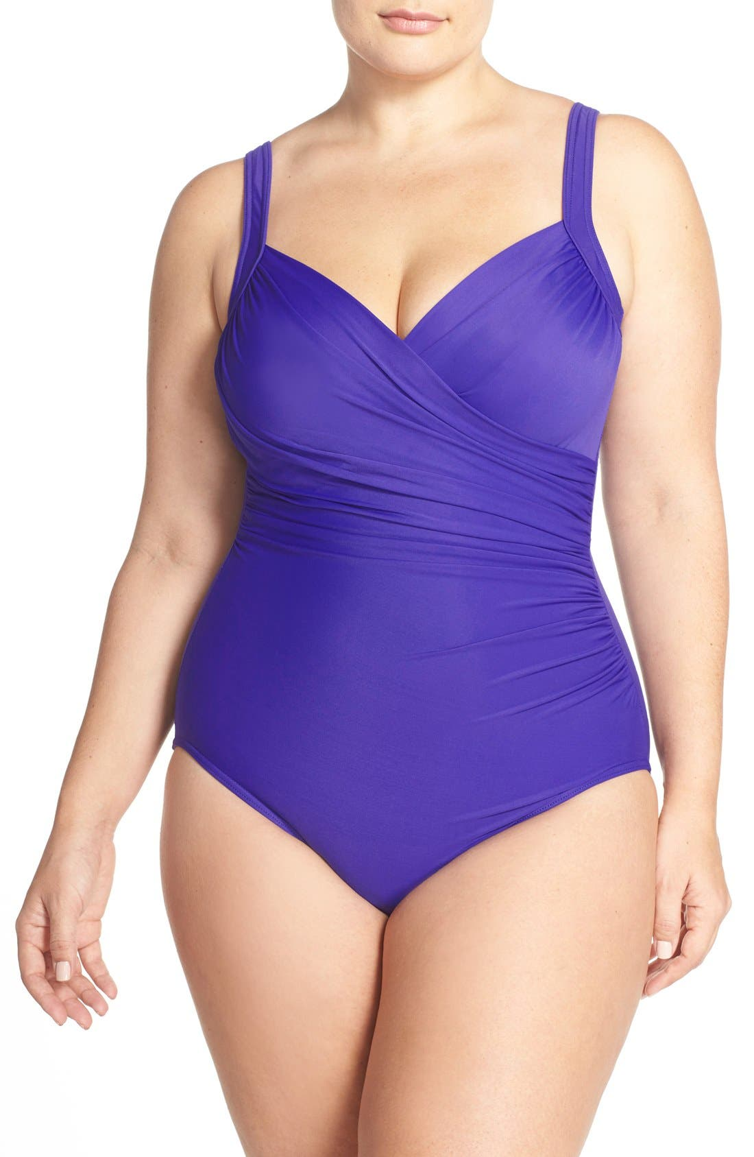 Main Image - Miraclesuit® 'Sanibel' Underwire One-Piece Swimsuit (Plus Size)
