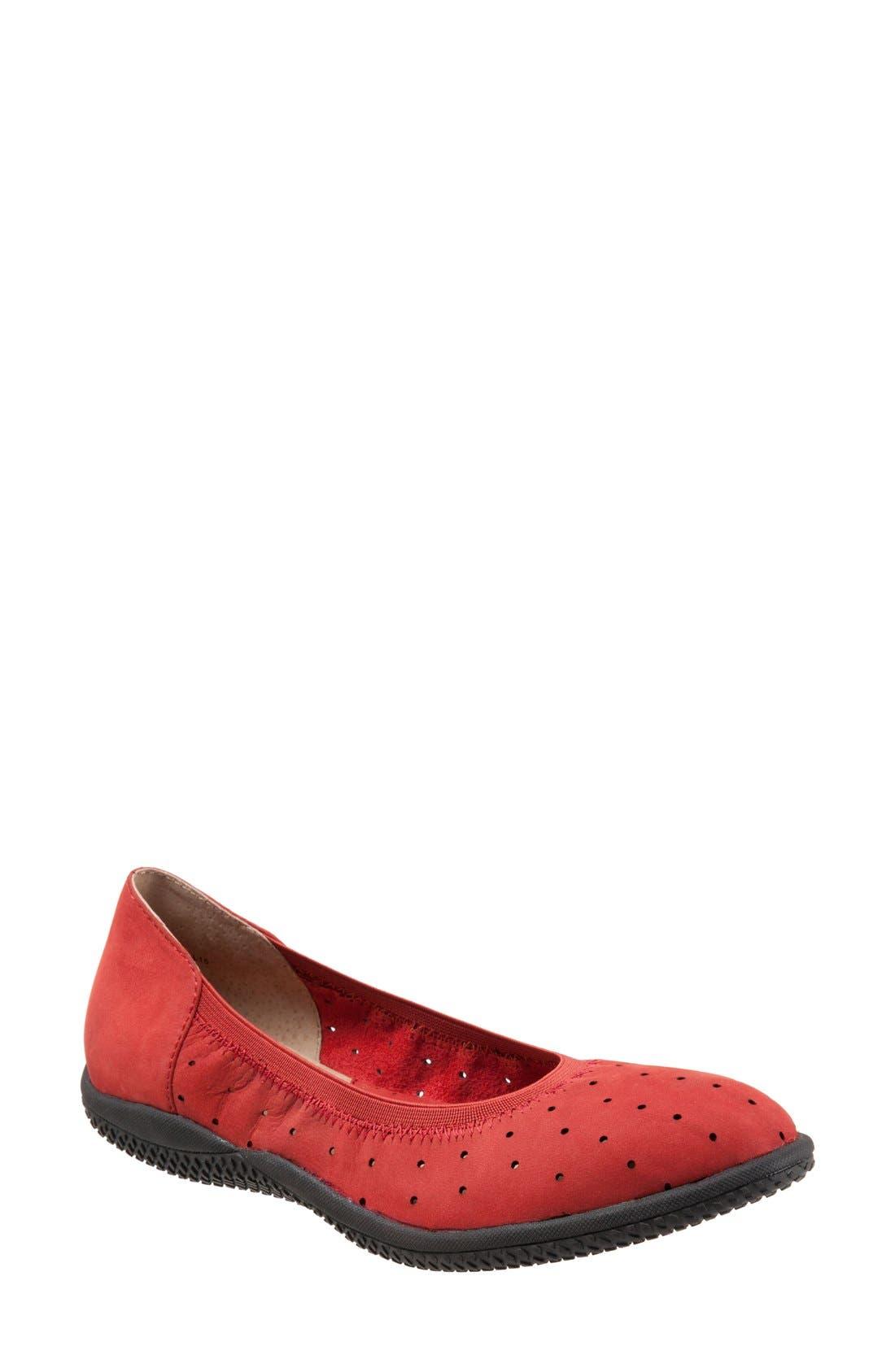 Main Image - SoftWalk® 'Hampshire' Dot Perforated Ballet Flat (Women)