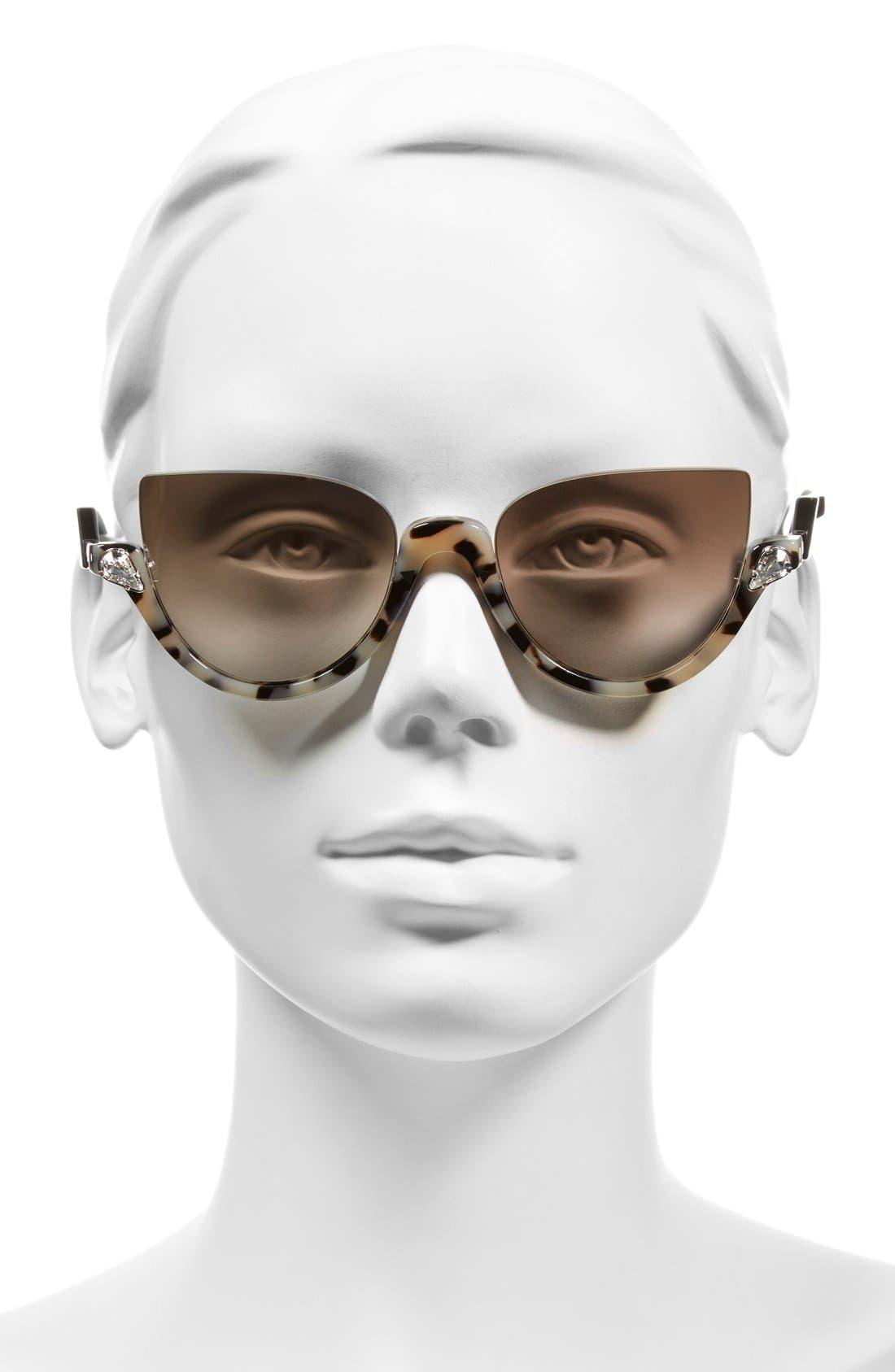 52mm Sunglasses,                             Alternate thumbnail 2, color,                             Havana/ Shiny Black