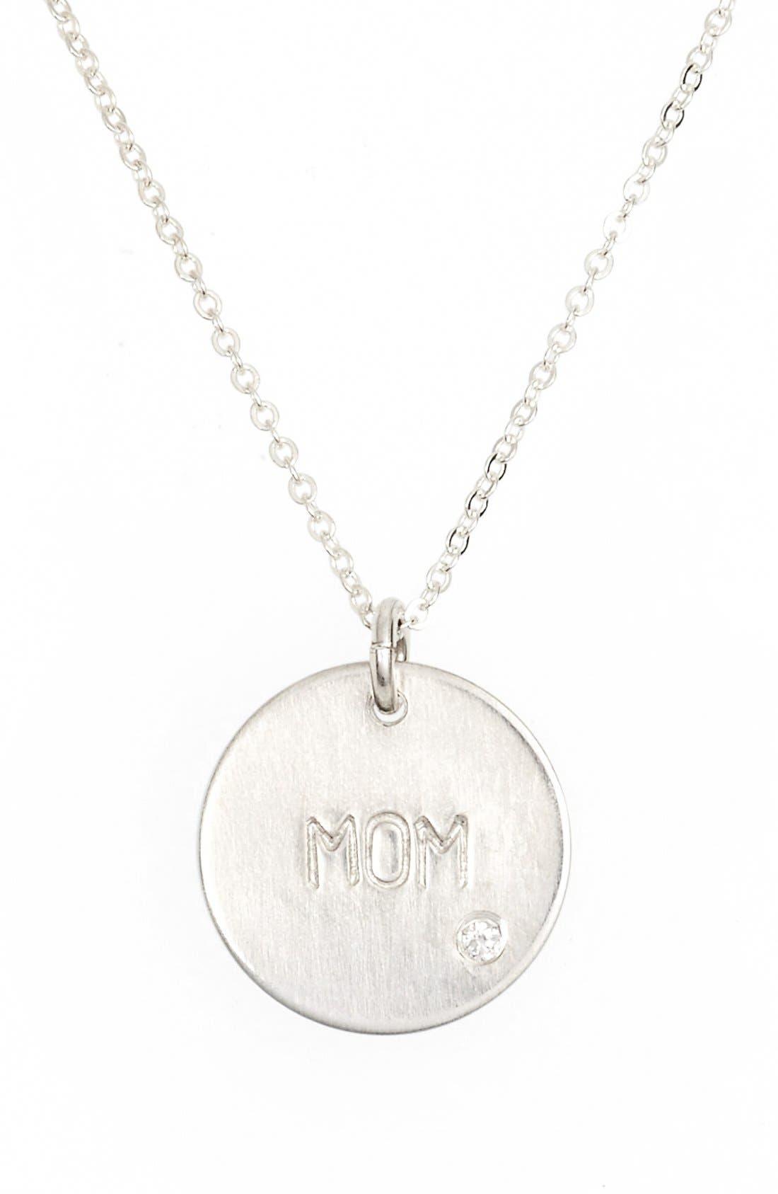 Diamond Pendant Necklace,                         Main,                         color, Silver - Mom