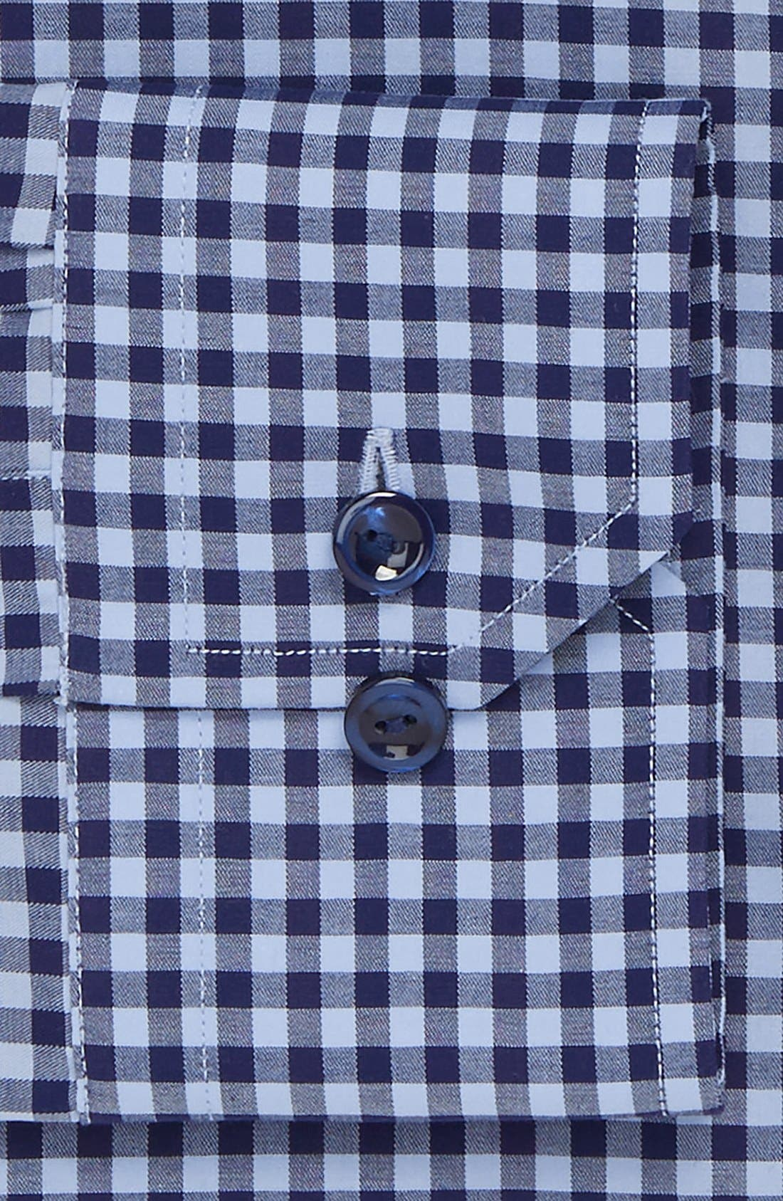 Contemporary Fit Check Dress Shirt,                             Alternate thumbnail 2, color,                             Blue