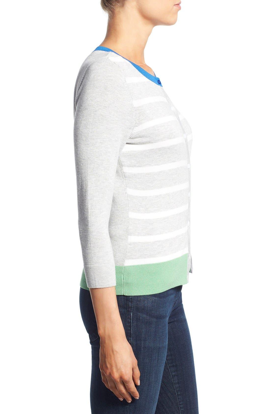 Alternate Image 3  - Halogen® Three Quarter Sleeve Cardigan (Regular & Petite)
