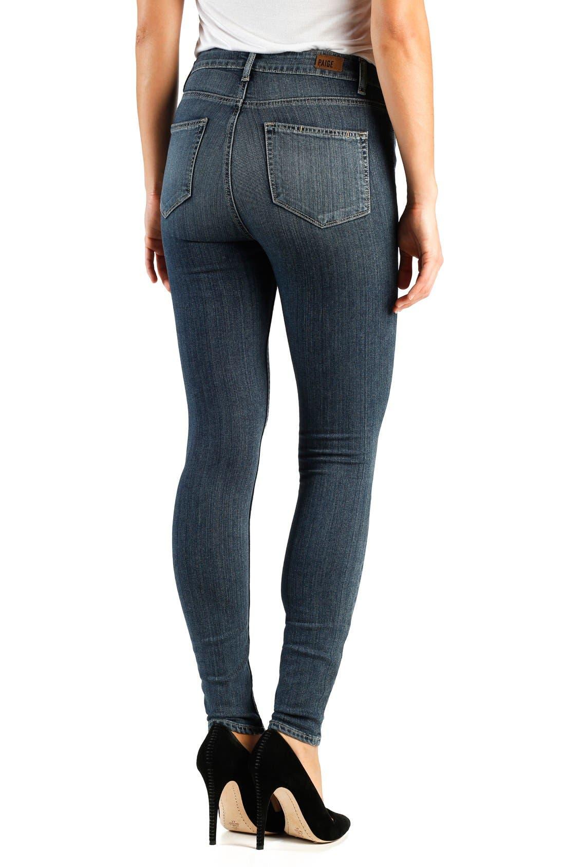 Alternate Image 2  - Paige Denim 'Transcend - Margot' High Rise Ultra Skinny Jeans (Atlas)