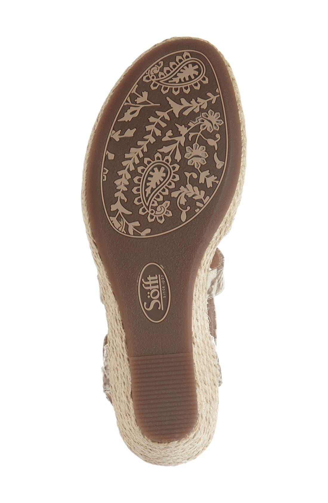 Alternate Image 4  - Söfft 'Inez' Wedge Sandal (Women)