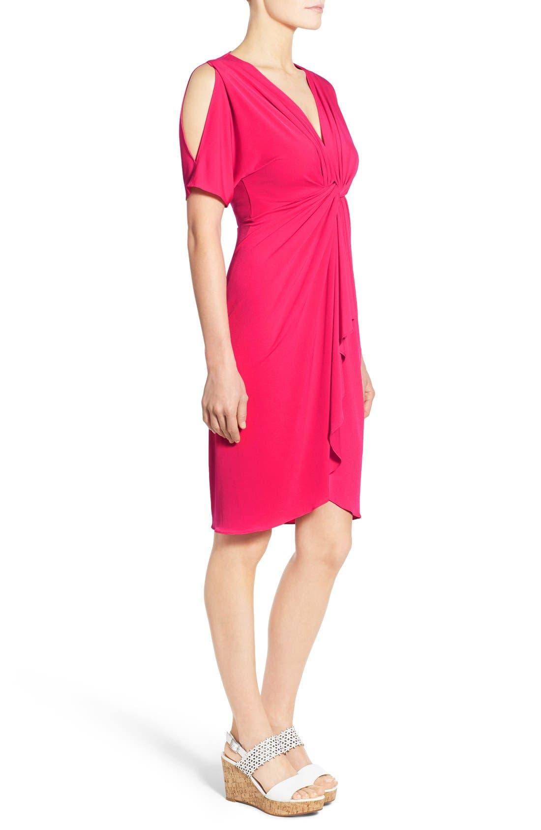 Alternate Image 3  - Catherine Catherine Malandrino 'Emily' Cold Shoulder Twist Front Dress
