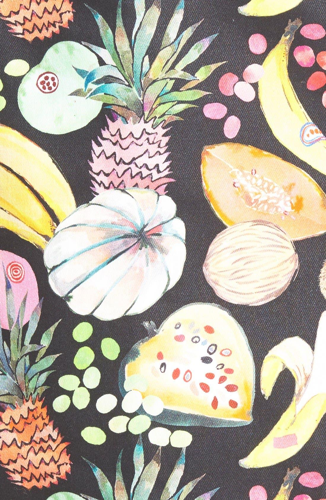 'Hilary' Denim Pencil Skirt,                             Alternate thumbnail 5, color,                             Tutti Frutti Black