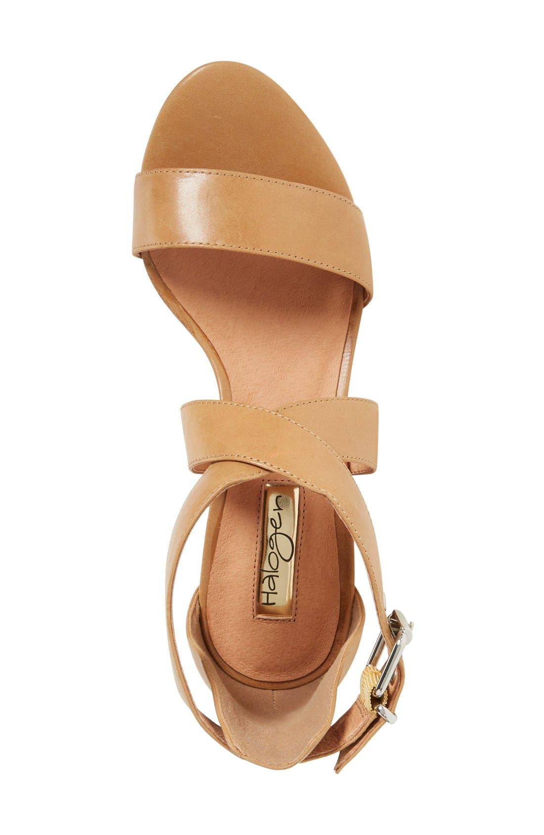 Halogen 'Rena' Crisscross Strap Sandal,                             Alternate thumbnail 3, color,                             Cognac