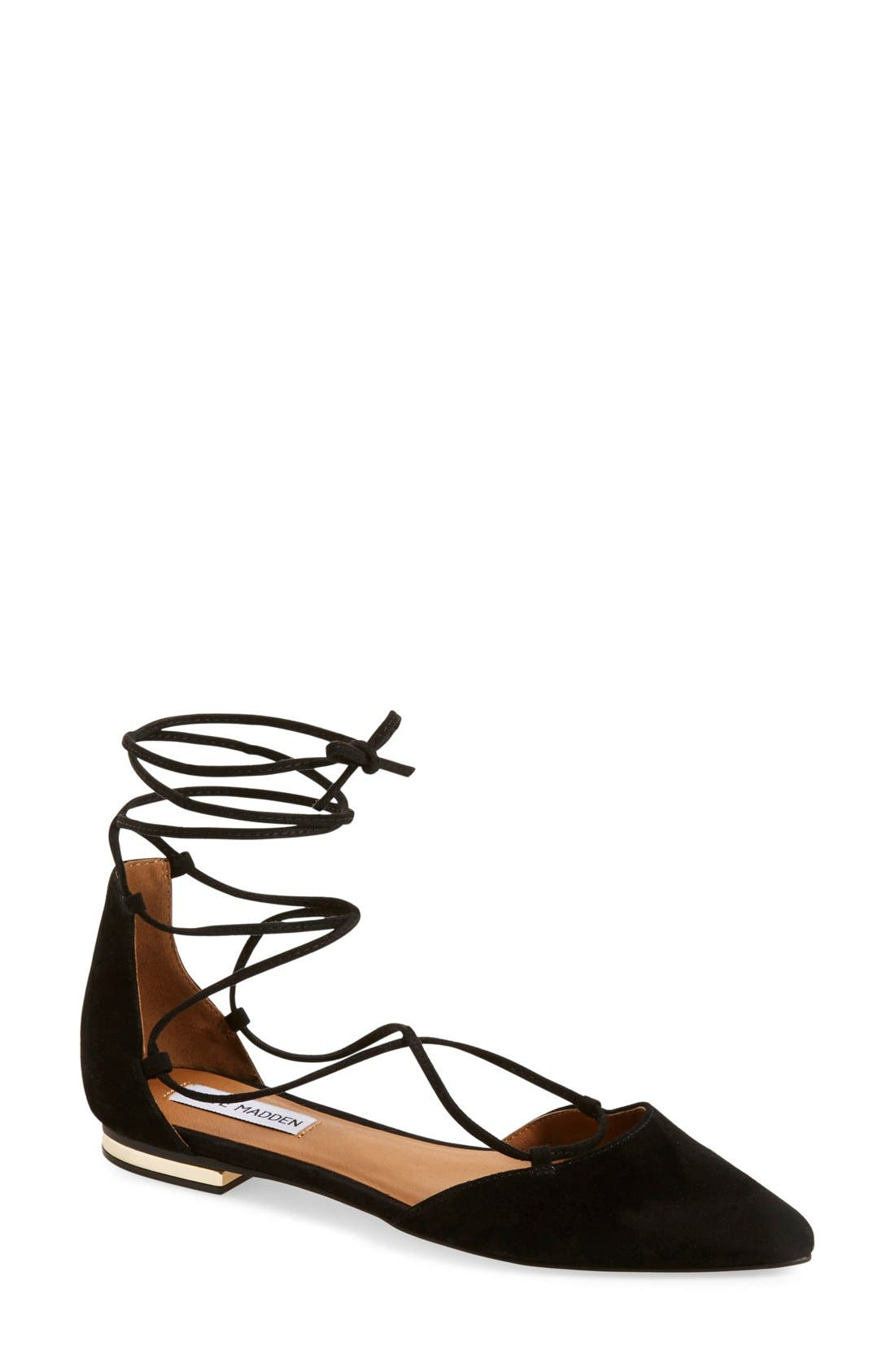 Main Image - Steve Madden 'Sunshine' Lace-Up Flat ...