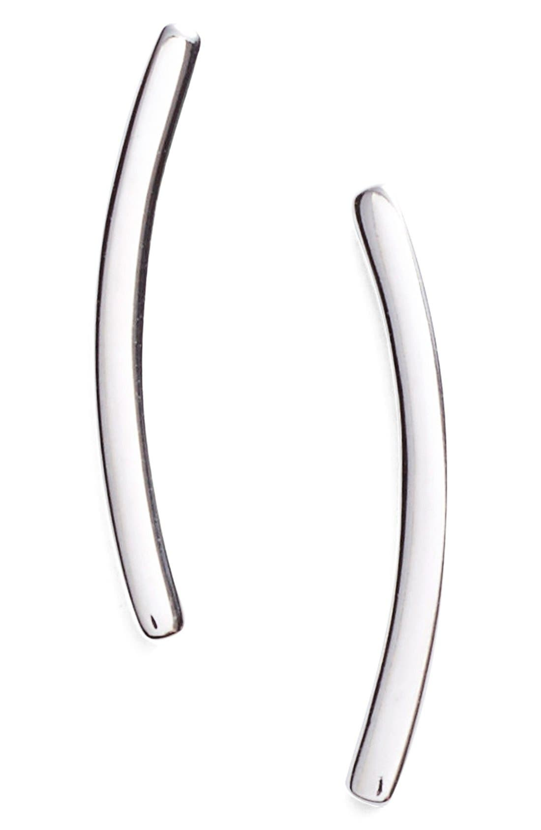 Alternate Image 1 Selected - Nadri Curved Bar Stud Earrings