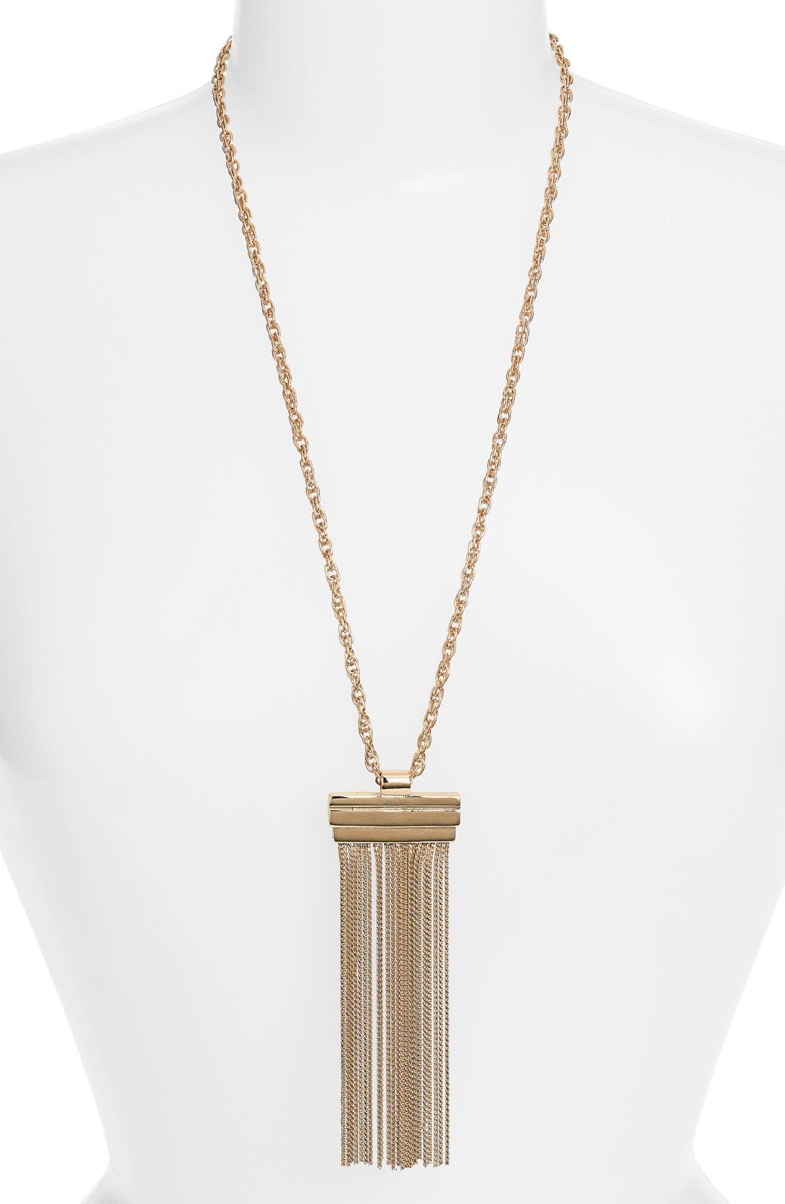 Main Image - Elise M. 'Hazel' Fringe Pendant Necklace