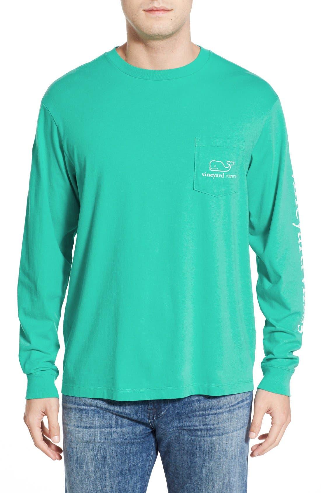 Alternate Image 2  - vineyard vines Pocket Long Sleeve T-Shirt