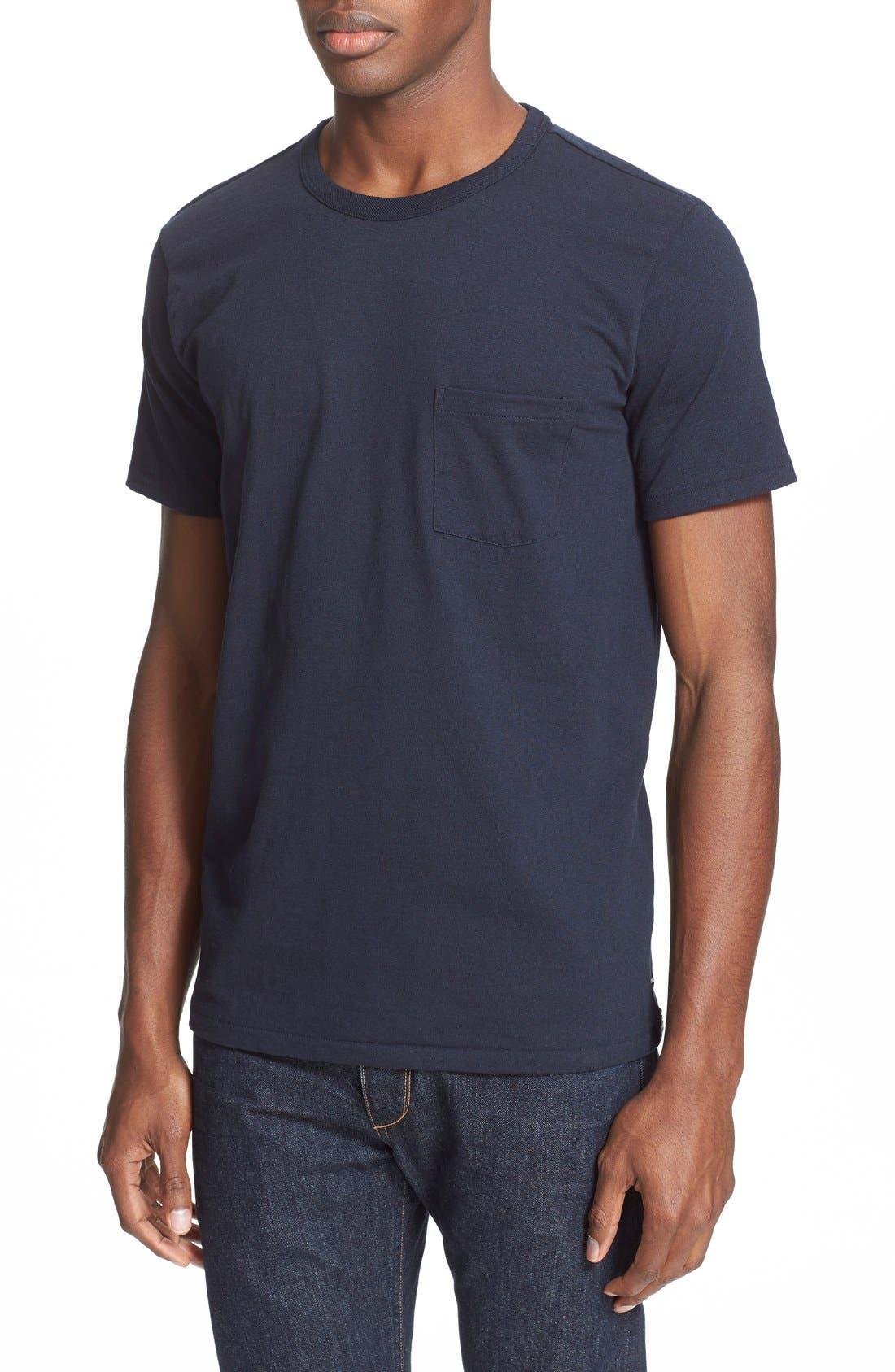 Pocket T-Shirt,                             Alternate thumbnail 4, color,                             Navy