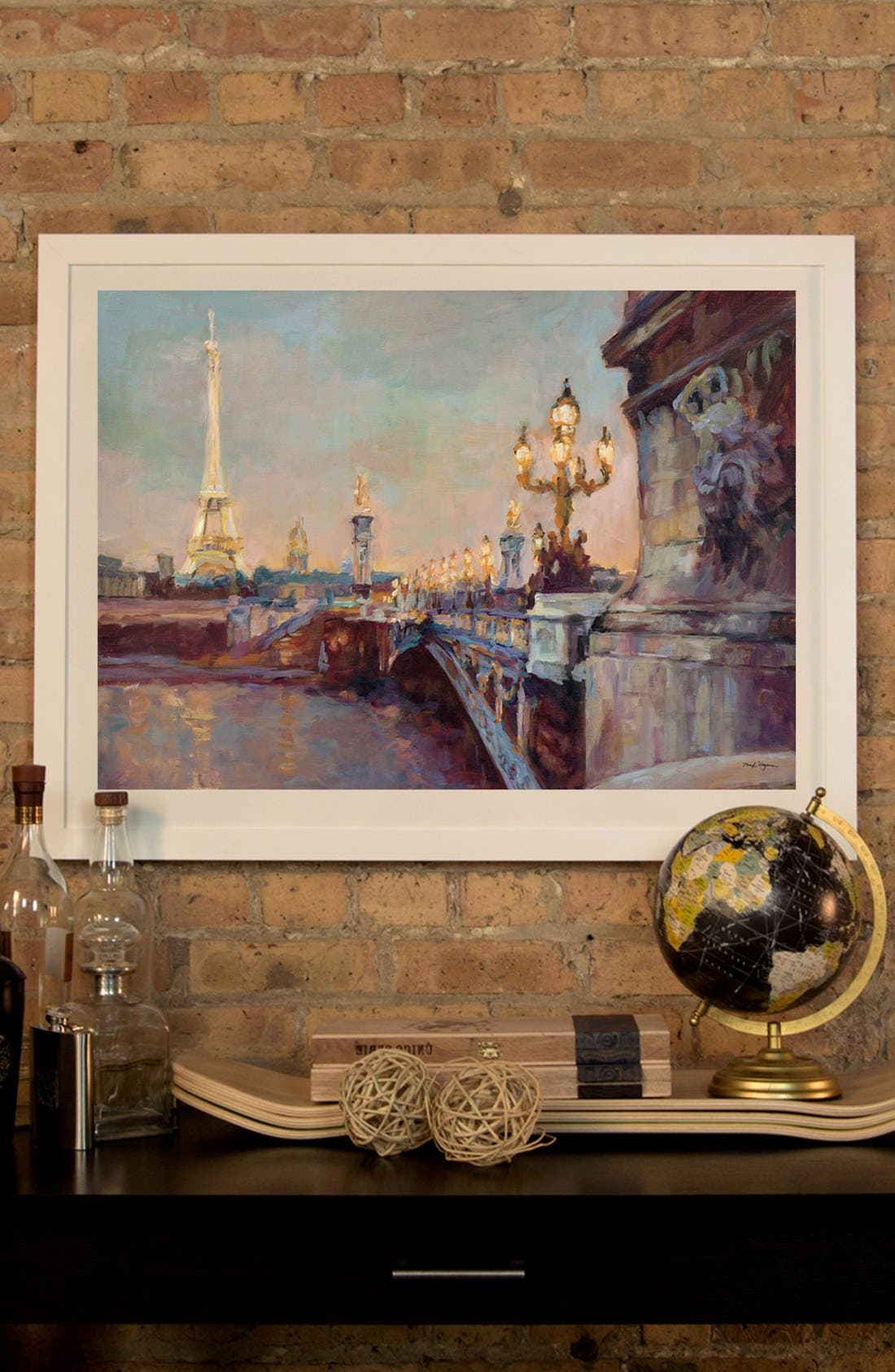 'Parisian Evening' Framed Fine Art Print,                             Alternate thumbnail 2, color,                             White
