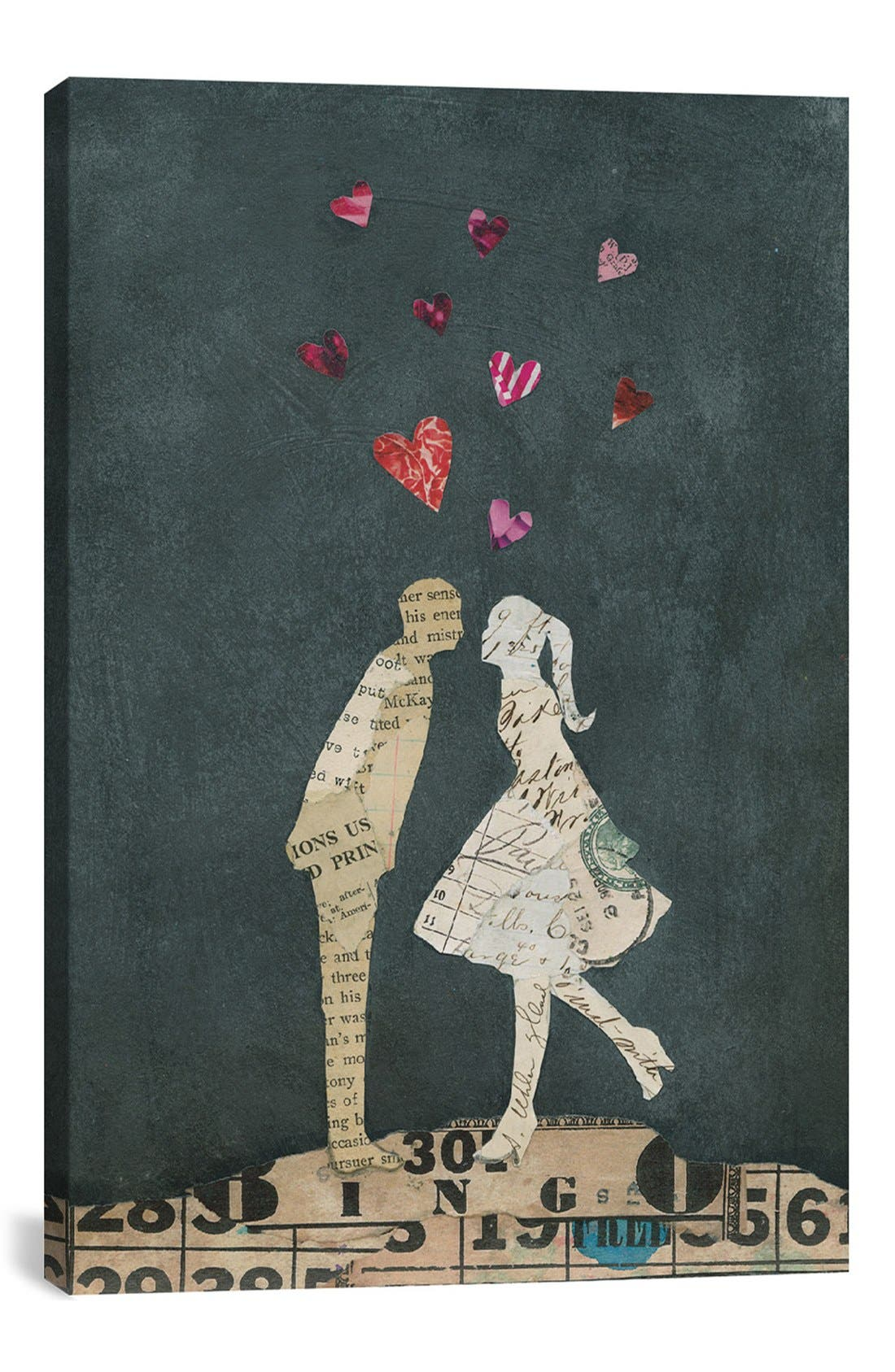 Alternate Image 1 Selected - iCanvas 'Cute Couple I' Giclée Print Canvas Art