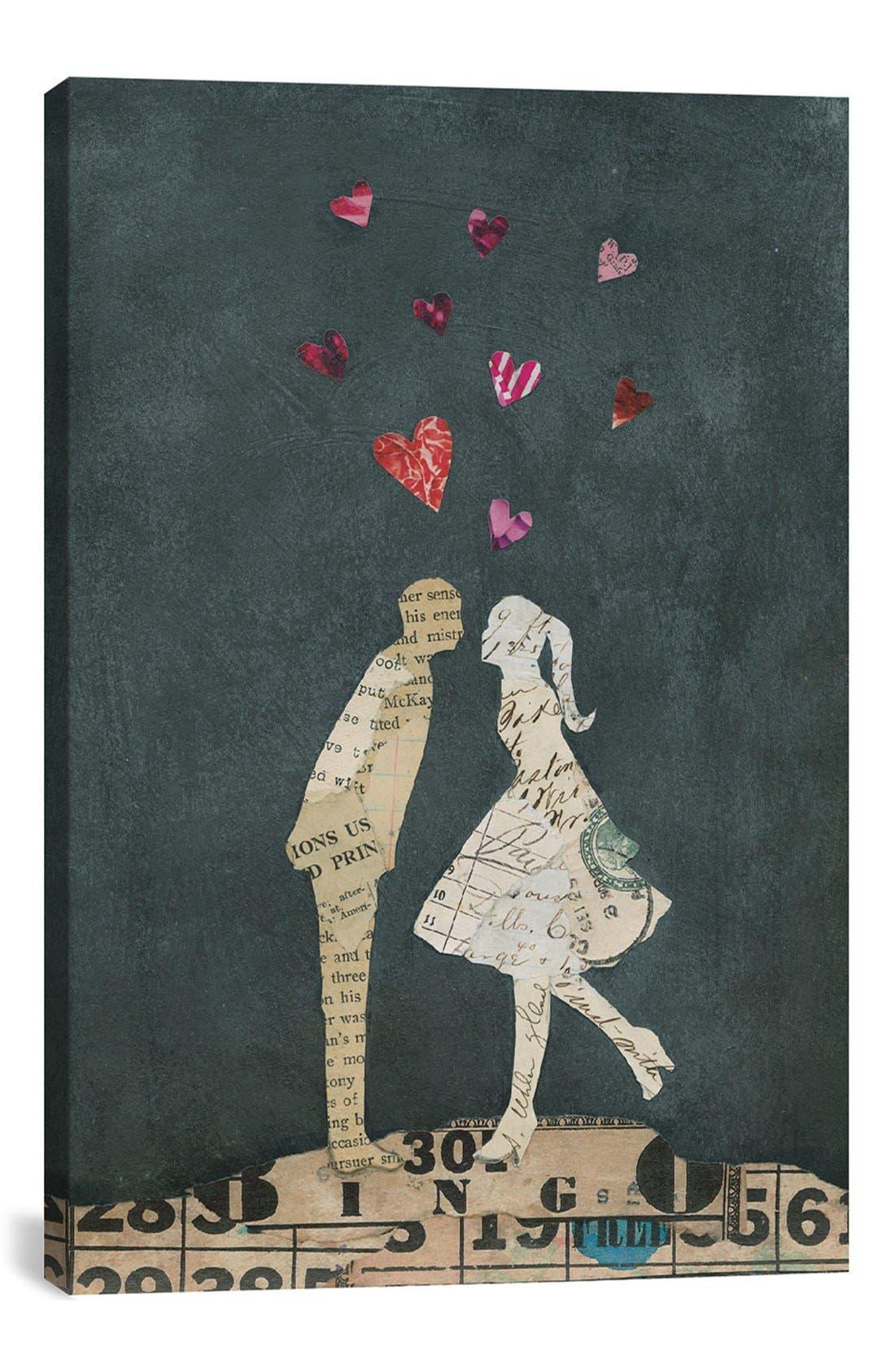 'Cute Couple I' Giclée Print Canvas Art,                         Main,                         color, Black