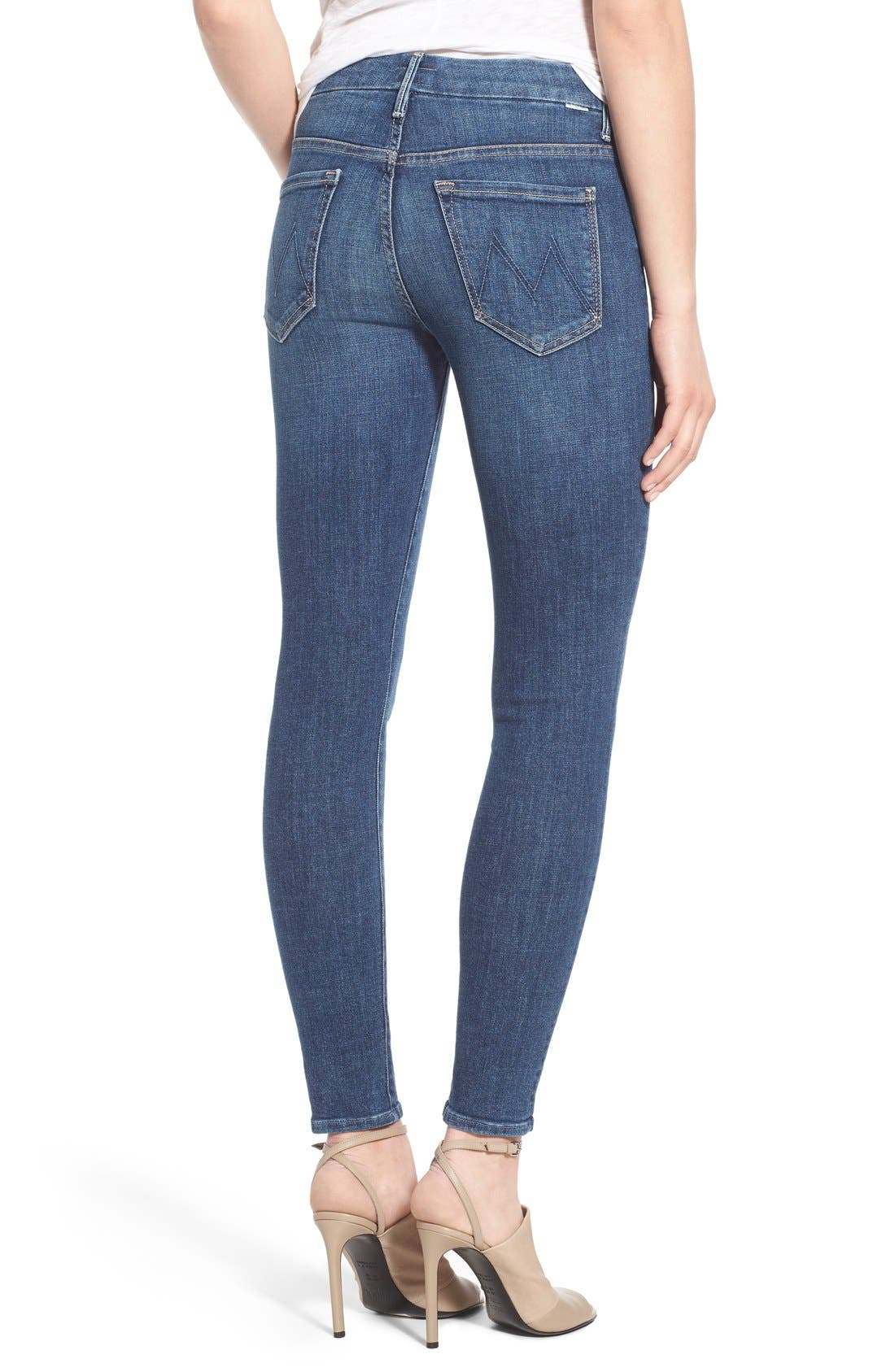 Alternate Image 2  - MOTHER 'The Looker' High Rise Skinny Jeans (Girl Crush)