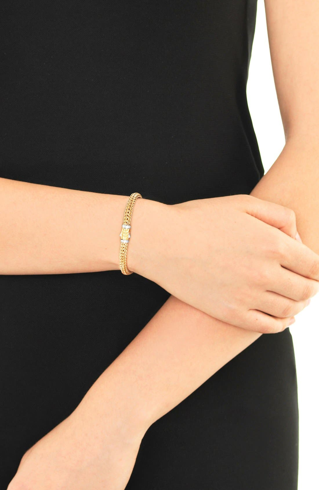 'Classic Chain' Extra Small Reversible Bracelet,                             Alternate thumbnail 2, color,                             Gold/ Silver
