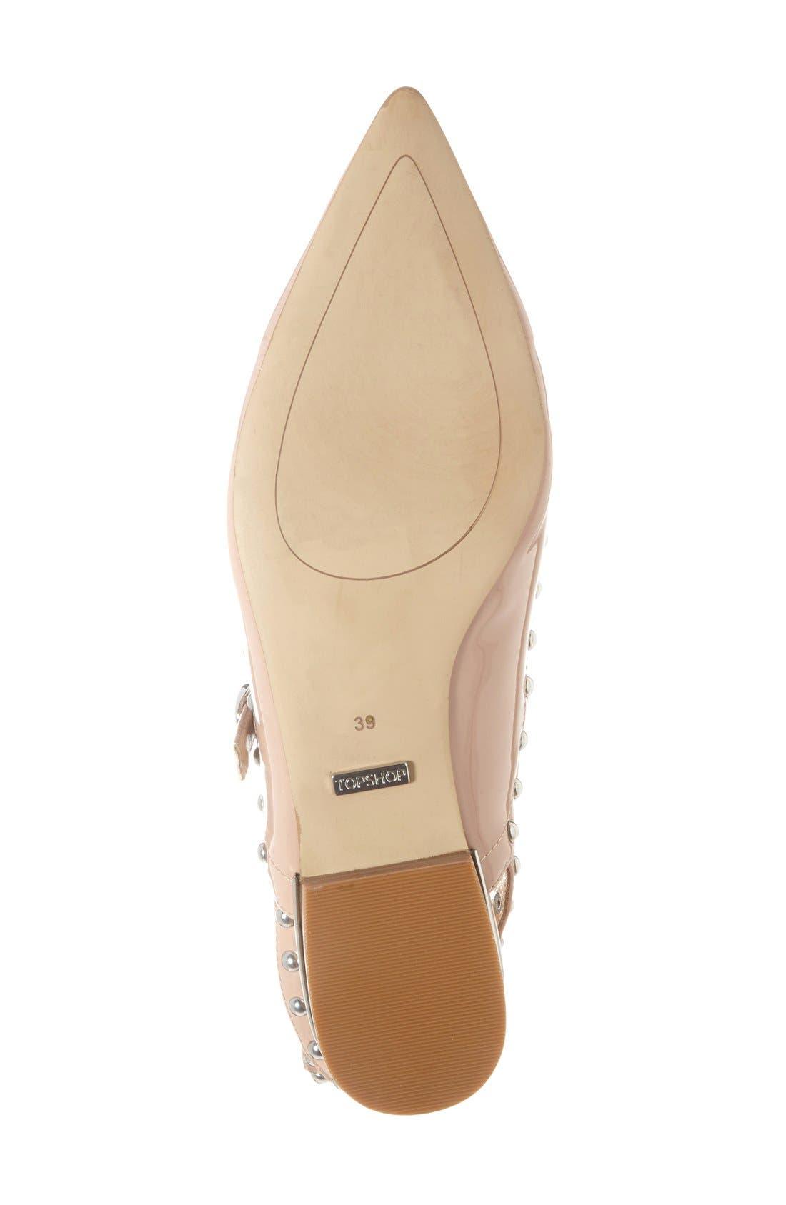 Alternate Image 4  - Topshop 'Kate' Pointy Toe Flat (Women)