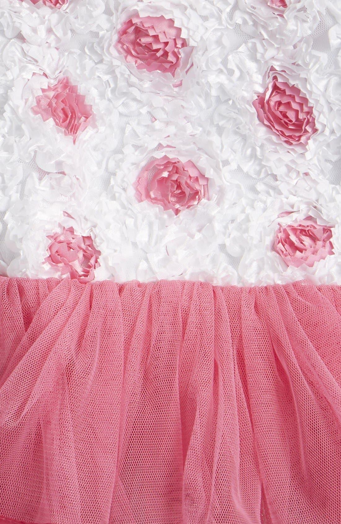 Alternate Image 3  - Popatu Soutache Floral Tutu Dress (Baby Girls)