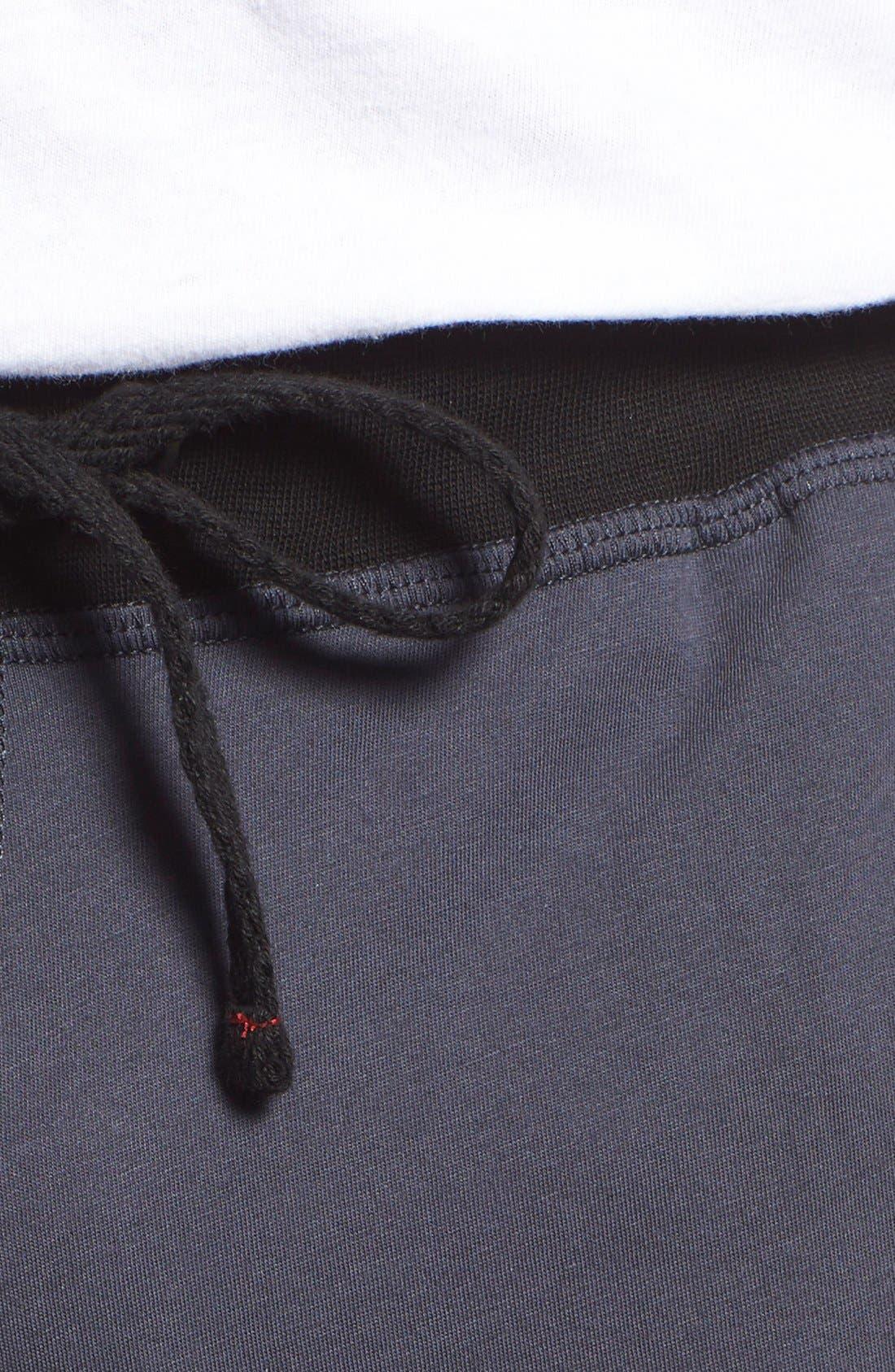 Peruvian Pima Cotton Lounge Shorts,                             Alternate thumbnail 5, color,                             Ink