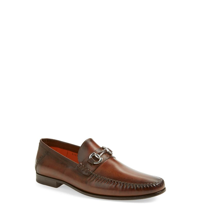 c3644f5c334 Santoni Egan Bit Loafer In Brown Leather. Nordstrom