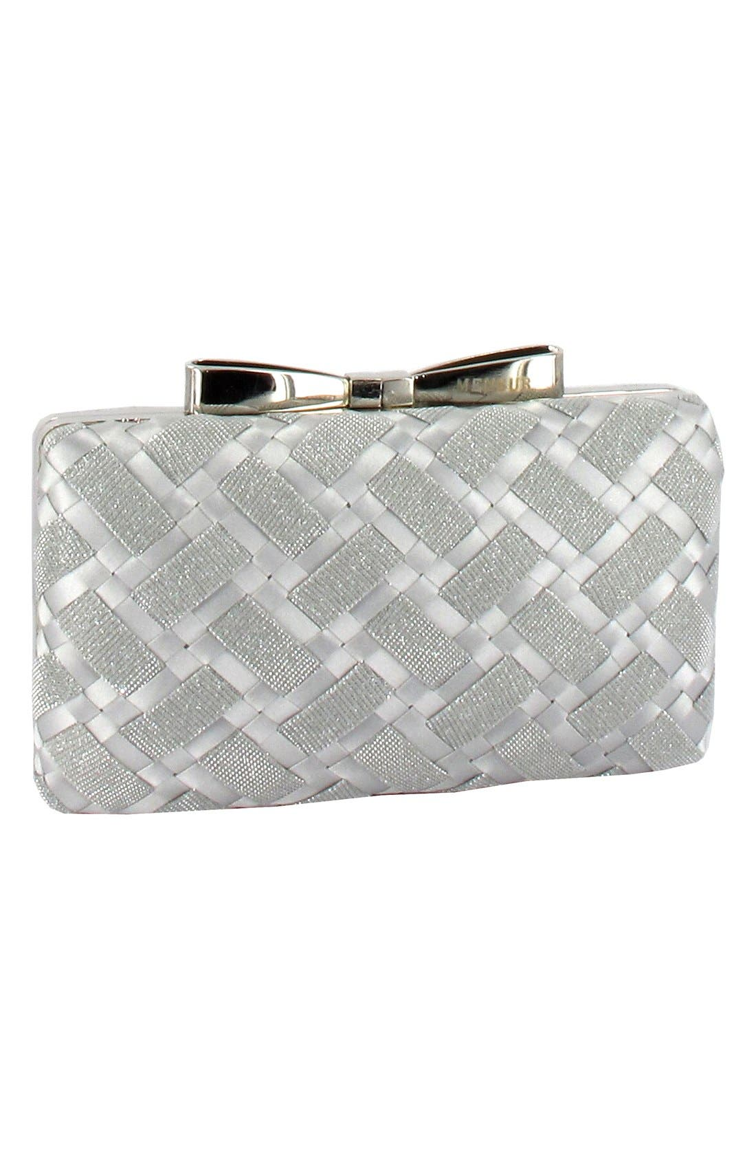 Alternate Image 3  - Menbur Woven Box Clutch with Bow Clasp
